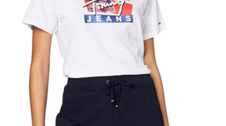 Tommy Hilfiger Jeans - Tjw Signature Logo Tee su amazon.com