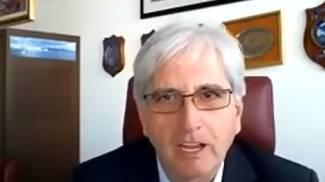 Luciano Guerrieri durante il convegno online
