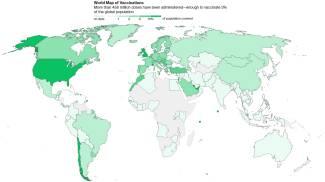 La mappa mondiale delle vaccinazioni (Bloomberg.com)