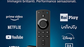 Fire TV Stick 4K Ultra HD con telecomando vocale Alexa di Amazon su amazon.com