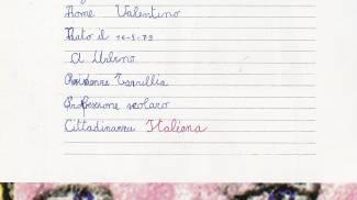 'Carta d'identità': il quaderno di Valentino Rossi bimbo
