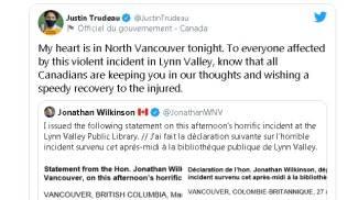 Il tweet del primo ministro canadese, Justin Trudeau
