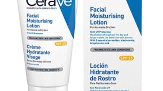 Crema idratante per il viso con protezione solare di Cerave su amazon.com