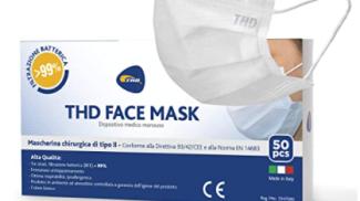 Mascherina chirurgica di THD su amazon.com