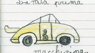 'La mia prima macchinina', dai quaderni di Valentino Rossi bambino