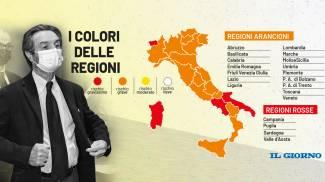 La nuova mappa dei colori delle regioni