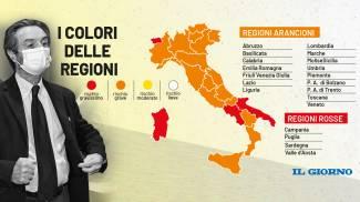 I colori delle regioni da lunedì 12 aprile