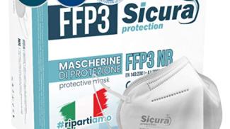 Sicura Protection Mascherine FFP3 su amazon.com