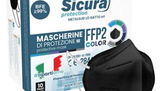 Sicura Protection Mascherine FFP2 Nere su amazon.com