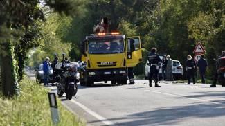 Il luogo dell'incidente mortale in provincia di Pisa