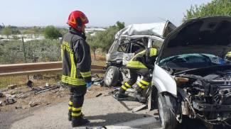 Incidente stradale nel Ragusano, sulla strada provinciale tra Comiso e Santa Croce (Ansa)