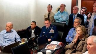 Attesa nella situation room della Casa Bianca nel 2011, quando fu ucciso bin Laden
