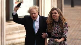 Boris Johnson e Carrie Symonds (Ansa)