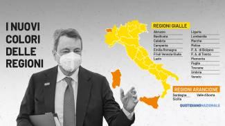 I nuovi colori delle Regioni dal 10 maggio