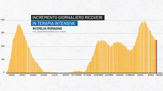 Covid, il grafico dei ricoveri in Emilia Romagna