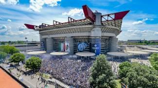 Inter, festa a San Siro (Ansa)