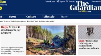 La tragedia della funivia su The Guardian