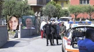 Il luogo del delitto (foto Alcide); nei riquadri Maria Carmina e Luigi Fontana