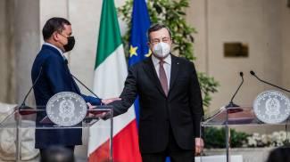 Mario Draghi e il premier libico