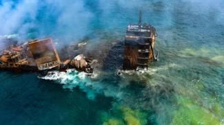 La nave affondata in Sri Lanka (Ansa)
