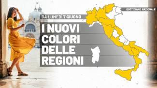 I nuovi colori delle regioni dal 7 giugno