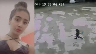 Saman Abbas e l'immagine delle telecamere che mostra un parente con la pala