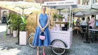 Chiara Ferragni alla presentazione dell'iniziativa