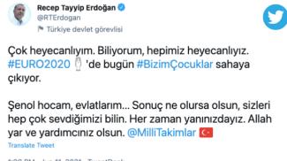 Il tweet di Erdogan