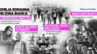 Emilia Romagna in zona bianca: le regole