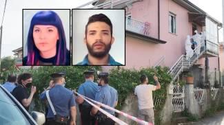 Il luogo del delitto e, nei riquadri, Alessandra Piga e Yassine Erroum