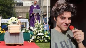 Il funerale di Michele Merlo, aveva 28 anni (foto Schicchi)