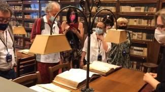 La visita dei lettori de La Nazione alla Società Dantesca
