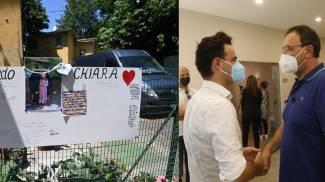 La camera ardente di Chiara Gualzetti; il papà e il sindaco Ruscigno