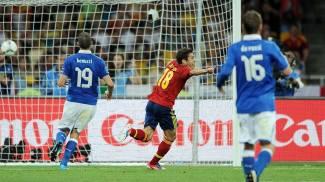La rete di Jordi Alba nel 2012