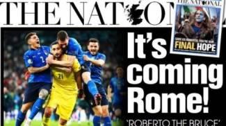 Prima pagina di lunedì 12 luglio 2021 del giornale scozzese The National