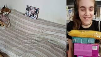 Chiara Gualzetti e il suo letto di casa