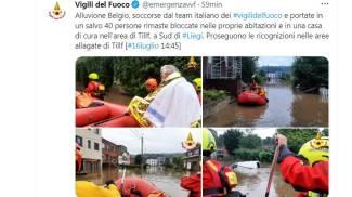 Interventi dei Vigili del Fuoco italiani in Belgio