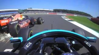 F1 Silverstone: il contatto tra Verstappen e Hamilton (Ansa / Sky Sport)