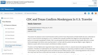 Il comunicato del Cdc Usa