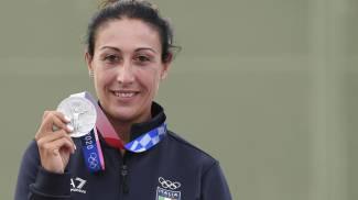 Diana Bacosi, medaglia d'argento (Ansa)