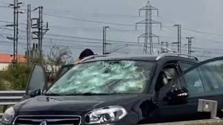 Le auto distrutte dalla grandinata a Parma