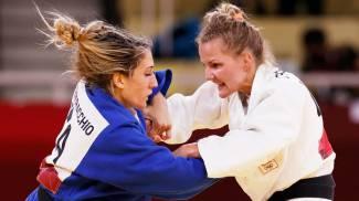 Mara Centracchio durante la finale per il bronzo (Ansa)