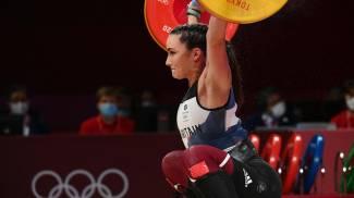 Giorgia Bordignon, medaglia d'argento nel sollevamento pesi (Ansa)