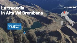La tragedia in Alta Val Brembana