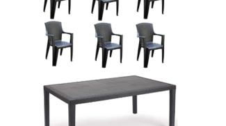 Tomaino - Set 1 Tavolo + 6 sedie su amazon.com