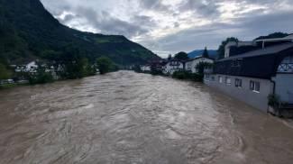Il livello dei fiumi in Alto Adige (Ansa)
