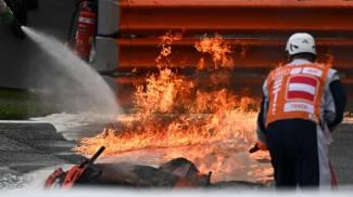 Motomondiale, incendio in pista nel Gp di Stiria (Ansa)