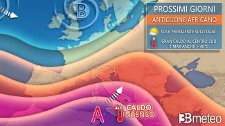 L'ondata di caldo africano sull'Italia (3bmeteo)