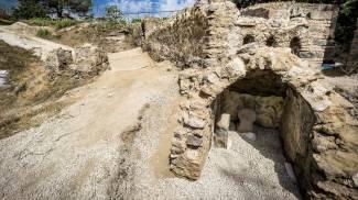 La tomba rinvenuta a Pompei (Ansa)