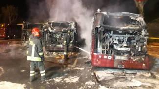 Incendio al deposito Atac di via Grottarossa